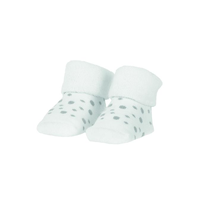 BAMBAM  Ponožky organické sada biela/puntíky